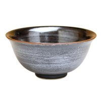 Tenmoku kasuri rice bowl