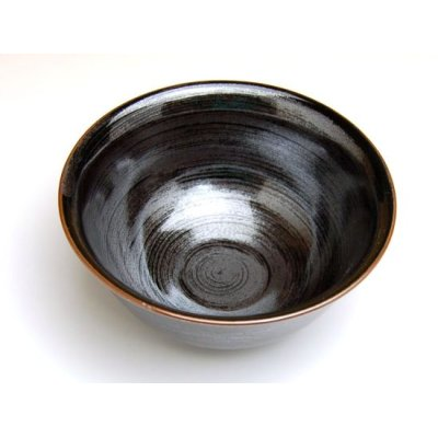 Photo2: Tenmoku kasuri rice bowl
