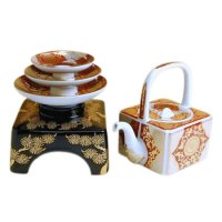Akaji kinsai kikka-mon TOSO sake bottle & cups set