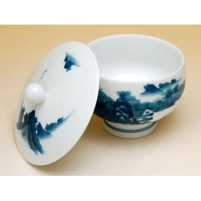 Photo4: Nabeshima sansui landscape Tea set (5 cups & 1 pot)