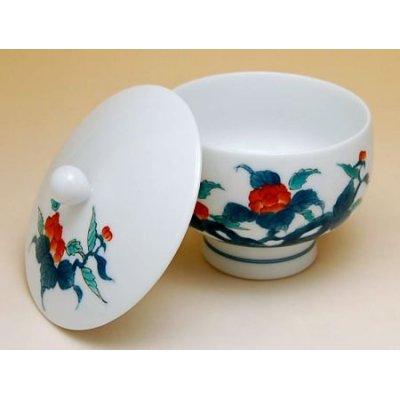 Photo4: Ironabeshima Iwa botan Tea set (5 cups & 1 pot)