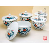 Ironabeshima Iwabotan Tea cup set (5 cups)