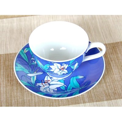 Photo3: Ruri Casablanca Cup and saucer