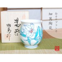 Shiro Casablanca Japanese green tea cup (wooden box)