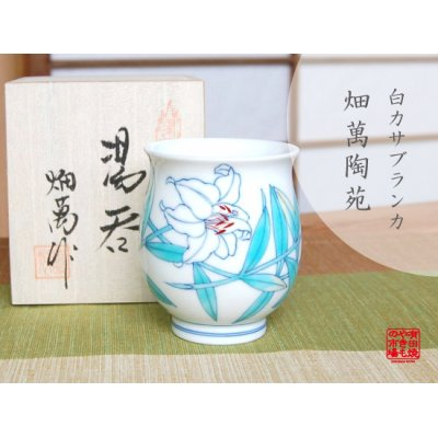 [Made in Japan] Shiro Casablanca Japanese green tea cup (wooden box)