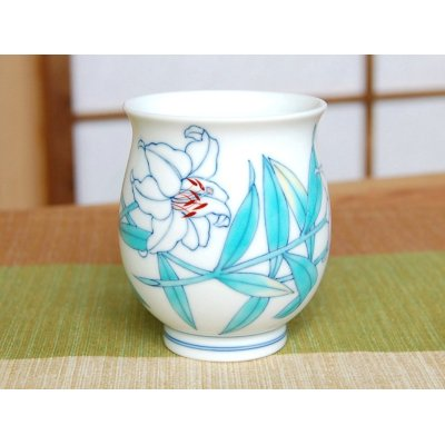 Photo2: Shiro Casablanca Japanese green tea cup (wooden box)