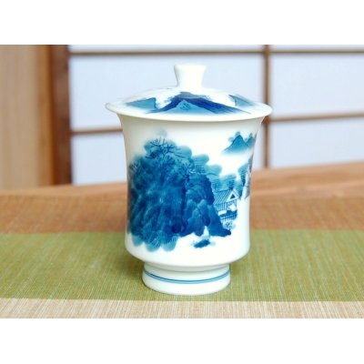 Photo2: Nabeshima Sansui landscape (Large) Japanese green tea cup