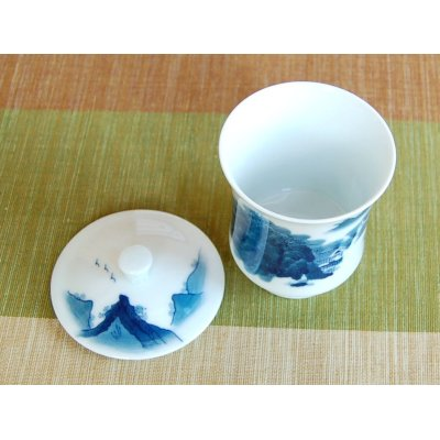 Photo3: Nabeshima Sansui landscape (Large) Japanese green tea cup