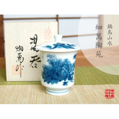 [Made in Japan] Nabeshima Sansui landscape (Small) Japanese green tea cup