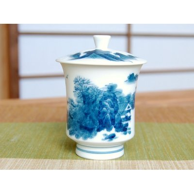 Photo2: Nabeshima Sansui landscape (Small) Japanese green tea cup