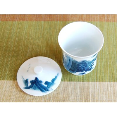 Photo3: Nabeshima Sansui landscape (Small) Japanese green tea cup