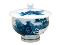 Nabeshima Sansui landscape Japanese green tea cup