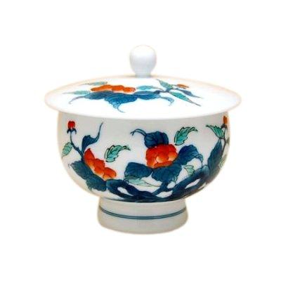 [Made in Japan] Ironabeshima naigai Sansui Iwabotan Japanese green tea cup