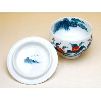 Photo2: Ironabeshima naigai Sansui Iwabotan Japanese green tea cup