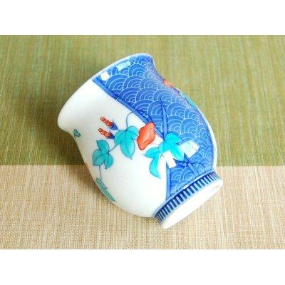 Photo3: Nabeshima Asagao Japanese green tea cup (wooden box)