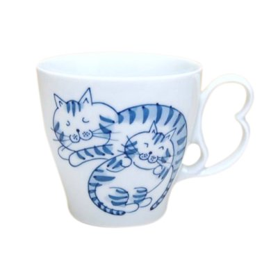 [Made in Japan] Tora neko cats mug