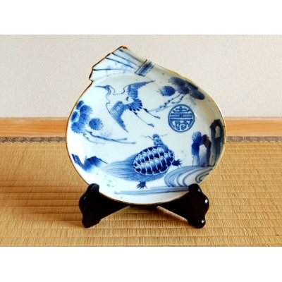 [Made in Japan] Choujyu Tsuru-kame-mon Ornamental plate