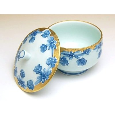 Photo2: Kindami icchin Kiku Japanese green tea cup