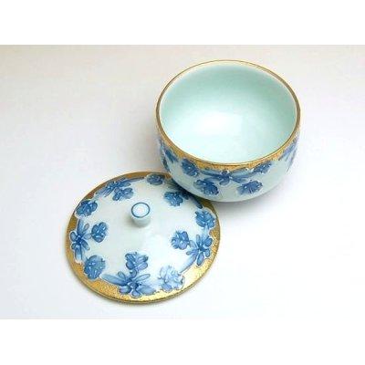 Photo3: Kindami icchin Kiku Japanese green tea cup