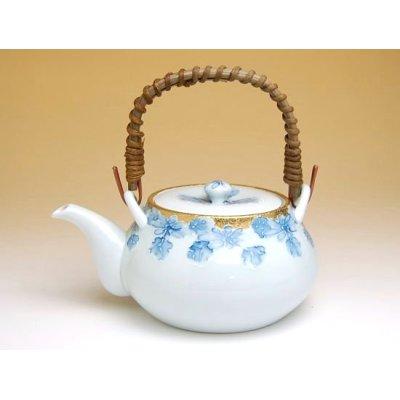 Photo2: Kindami icchin kiku Tea set (5 cups & 1 pot)