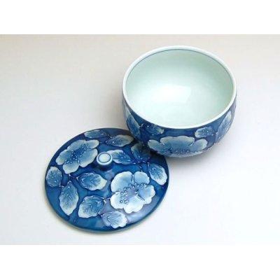 Photo3: Kyou botan Japanese green tea cup