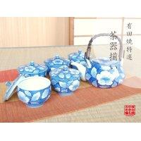 Kyou botan Tea set (5 cups & 1 pot)