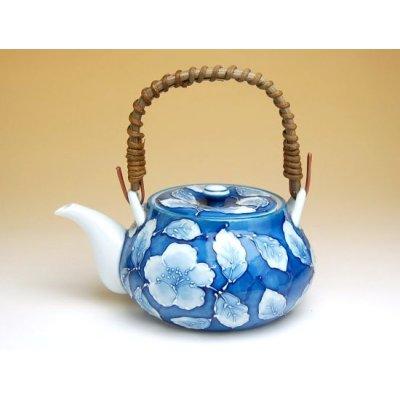 Photo2: Kyou botan Tea set (5 cups & 1 pot)