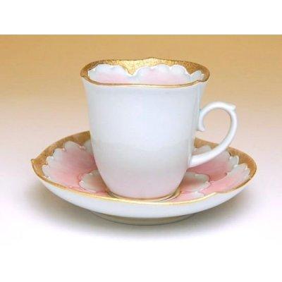 Photo3: Kindami pink botan Demitasse cup and saucer