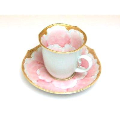 Photo4: Kindami pink botan Demitasse cup and saucer