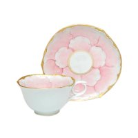 Kindami pink botan Cup and saucer