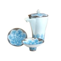 Dahlia Sake bottle & cups set