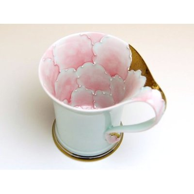 Photo2: Kindami pink botan mug