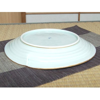 Photo3: Kindami pink botan Extra-large plate (30cm)