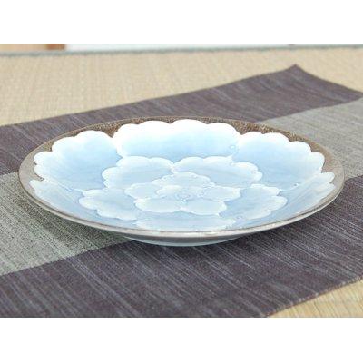 Photo2: Platinum botan Large plate (18.3cm)