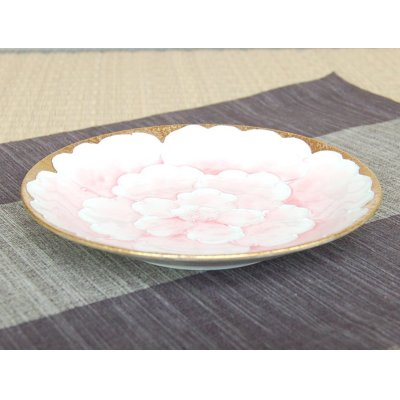 Photo2: Kindami pink botan Large plate (18.3cm)