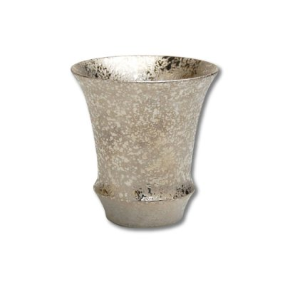 [Made in Japan] Ginsai silver (Vertical) SAKE GLASS