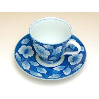 Photo3: Kyou botan Cup and saucer