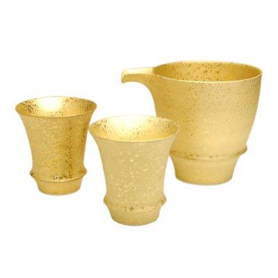 Photo2: Kinsai SAKE pitcher and cups set (wood box)