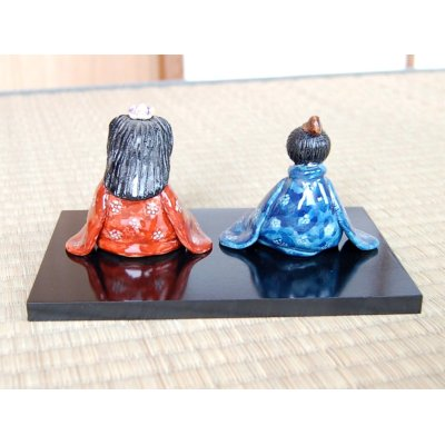 Photo3: Somenishiki Ume-mon Hina doll (a doll displayed at the Girls' Festival)