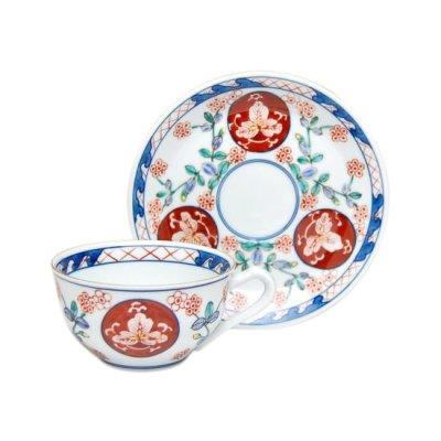 [Made in Japan] Ko-imari souka Cup and saucer