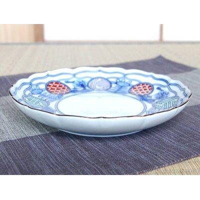 Photo2: Iroe maru-mon sansui Medium plate (18.6cm)