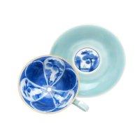 Seiji wari sansui Cup and saucer
