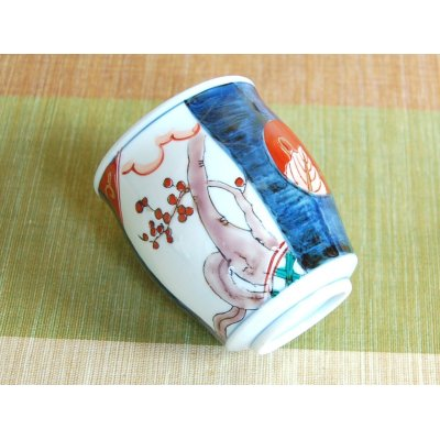 Photo3: Ko-imari Japanese green tea cup (wooden box)