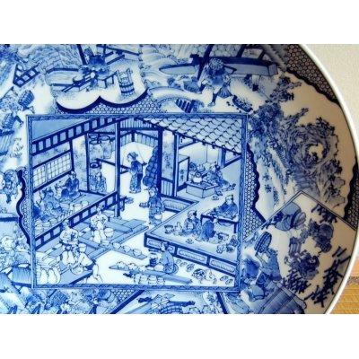 Photo2: Shokunin-zu Ornamental plate(45cm)