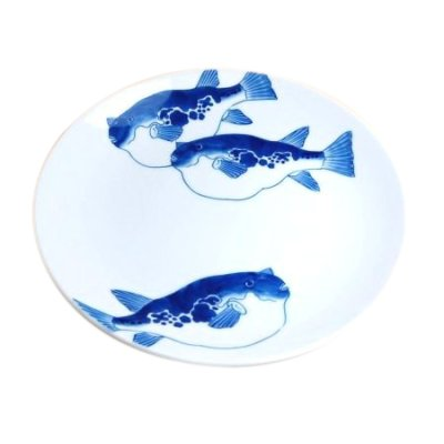 [Made in Japan] Fugu (globefish) Extra-large plate