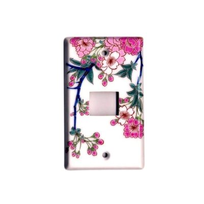 [Made in Japan] Somenishiki Kinsai Sakura (1 hole) plug socket cover
