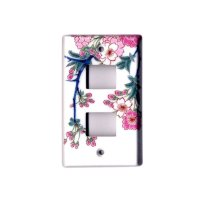 Somenishiki Kinsai Sakura (2 hole) plug socket cover