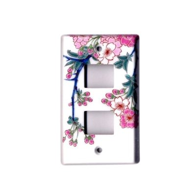 [Made in Japan] Somenishiki Kinsai Sakura (2 hole) plug socket cover