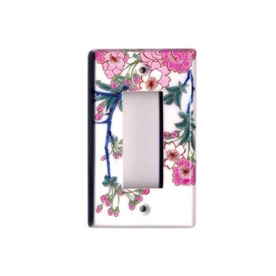 [Made in Japan] Somenishiki Kinsai Sakura (3 hole) plug socket cover