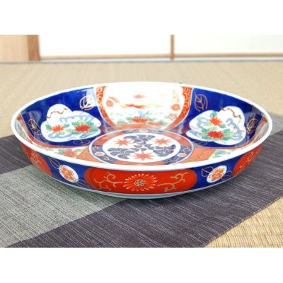 Photo2: Uenishiki sanpouwari botan houou DORABACHI Large bowl (27.3cm)